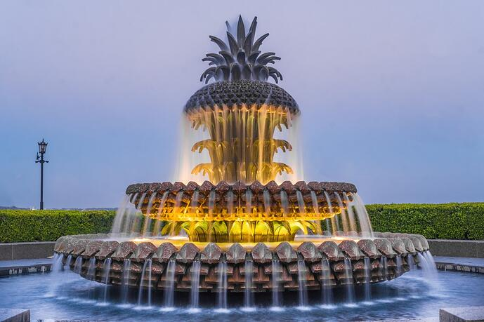 Pineapple Fountain in Charleston AdobeStock_187530366