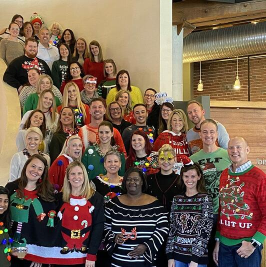 holiday party, corporate event, special event, ugly sweaters