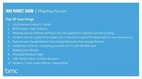Pharma Forum, meeting management, life sciences