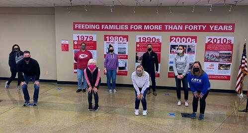 giving back at Harvesters